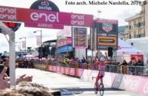 All'arrivo della sesta tappa del 102° Giro d'Italia