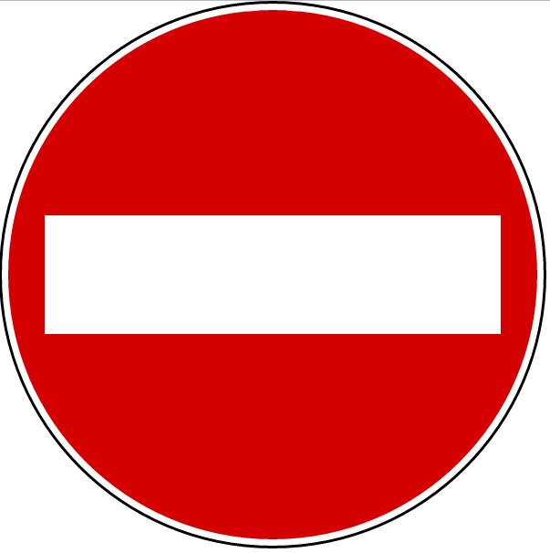 cartello divieto di entrata