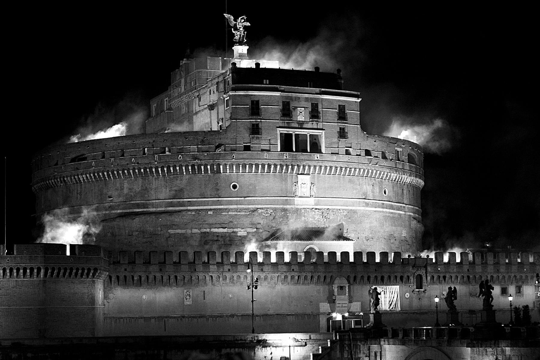 La girandola di castel sant angelo roma notizie for Roma in bianco e nero
