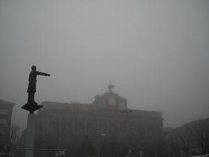 Alessandria nella nebbia