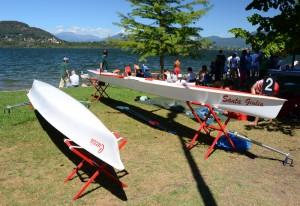 Lago di Corgeno, canotaggio regata nazionale