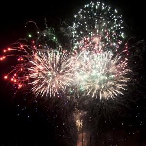 Fireworks nel mare di Santa Margherita