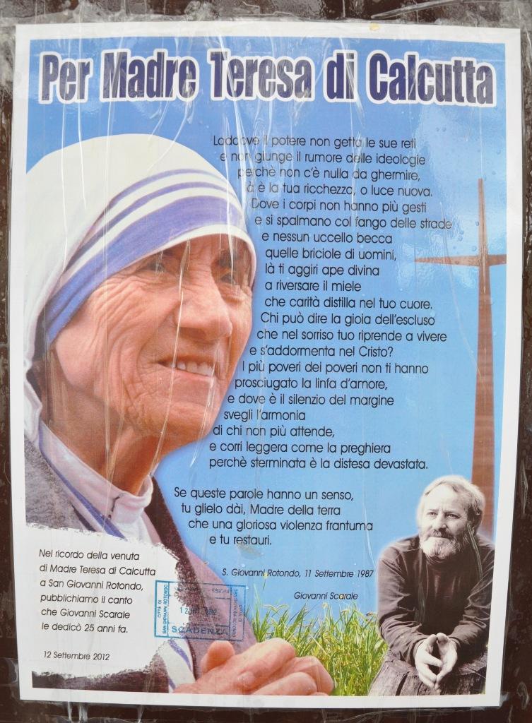 Molto In memoria della visita di Madre Teresa di Calcutta | San Giovanni  PL89