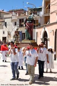 La processione di Sant'Eustachio e della sua famiglia