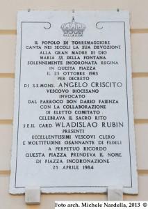 A trent'anni dall'Incoronazione di Maria SS. della Fontana