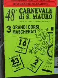 La locandina del carnevale di San Mauro a Signa
