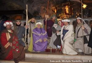 Corteo dei <i>Magi</i> verso la Grotta dell'Arcangelo Michele