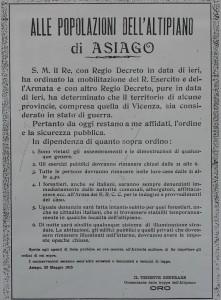 Centenario dell'entrata dell'Italia nella Grande Guerra