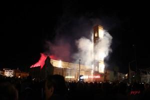 Madonna della Coltura – il campanile in fiamme