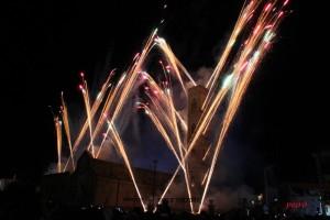 Incendio del campanile a Parabita