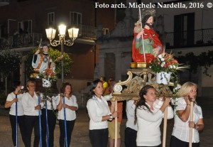 Processione rosetana dell'Assunta con i SS. Fausto, Donato e Rocco