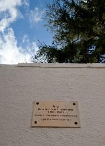 Una via intitolata a Fortunato Licandro