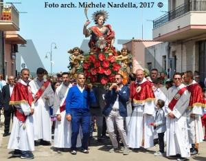 Solenne processione lesinese di San Primiano con i SS. Firmiano e Casto, 2017