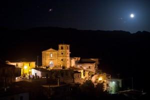 Notte sotto le stelle, la via Lattea da Gallicianò