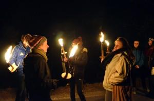 Notte di fuochi nelle valli valdesi