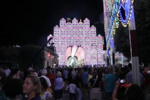 Santa Domenica 2018, arte luminaria e pizzica