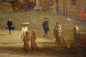 """""""Largo di Palazzo"""" (attuale piazza del Plebiscito): veduta globale e suoi particolari"""