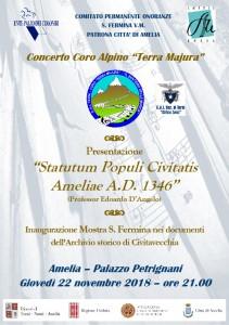 "Presentazione ""Statutum Populi Civitatis Ameliae"" col Coro ""Terra Majura"""