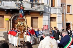 Festa patronale con la statua di San Marco evangelista restaurata