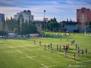 Un partita di rugby sul nuovo campo del Florentia